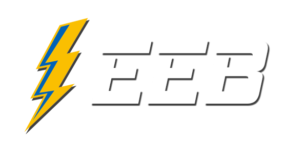 a white abbreviated logo for electrical equipment buyers